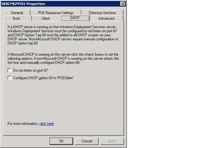 WDS on separate server to DHCP - Unattended RIS Installation