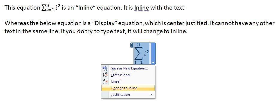 Equation Editor Summation Symbol Not Showing Properly Microsoft