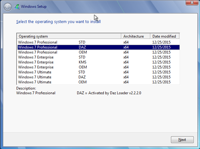 windows 7 professional loader by daz