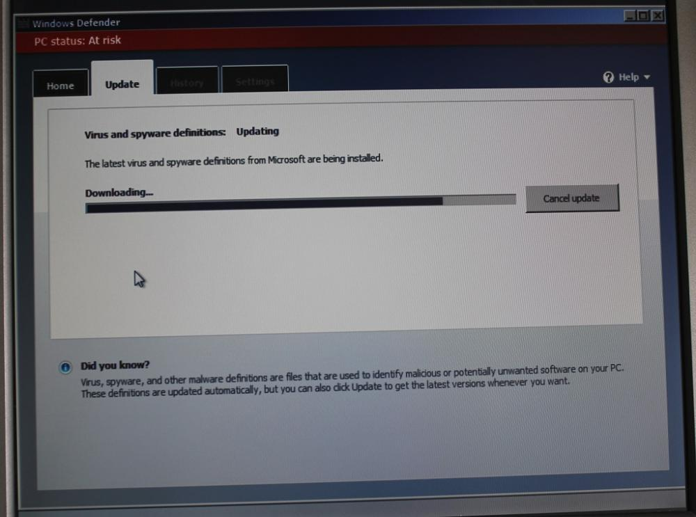 Windows defender offline windows 7 msfn for Window defender