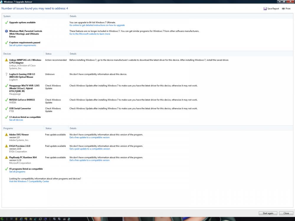 Windows 7 Upgrade Advisor Results.png