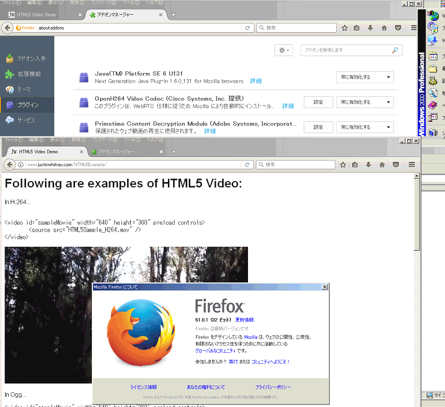 Enable MP4 (H 264 + AAC) HTML5 video in Firefox on Windows
