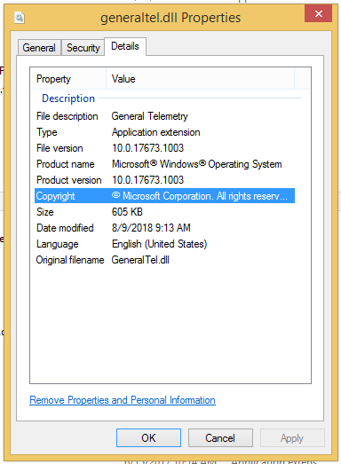KB4462926 from Oct. 2018 contains telemetry components - Windows 8