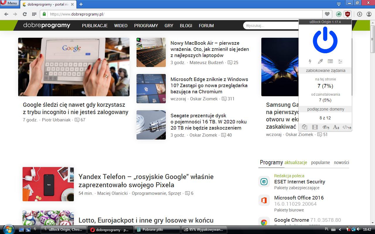 uBlock Origin, Chromium 54 and Firefox 52 9 ESR - Page 2 - Windows