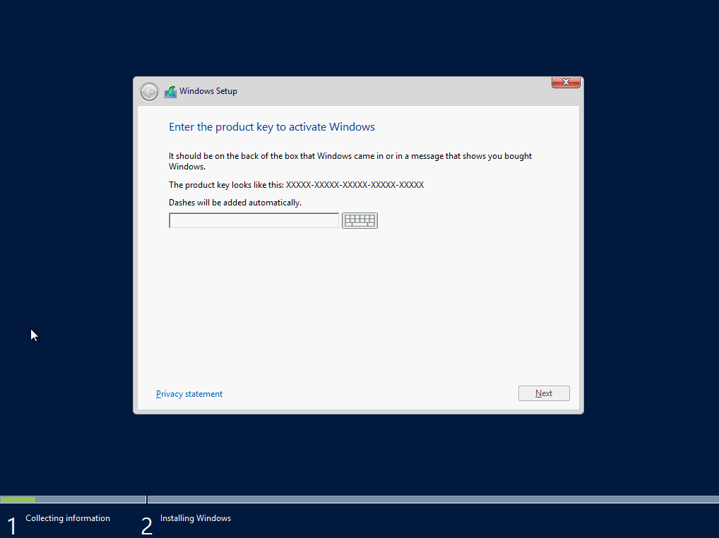 windows 2012 r2 product key for installation