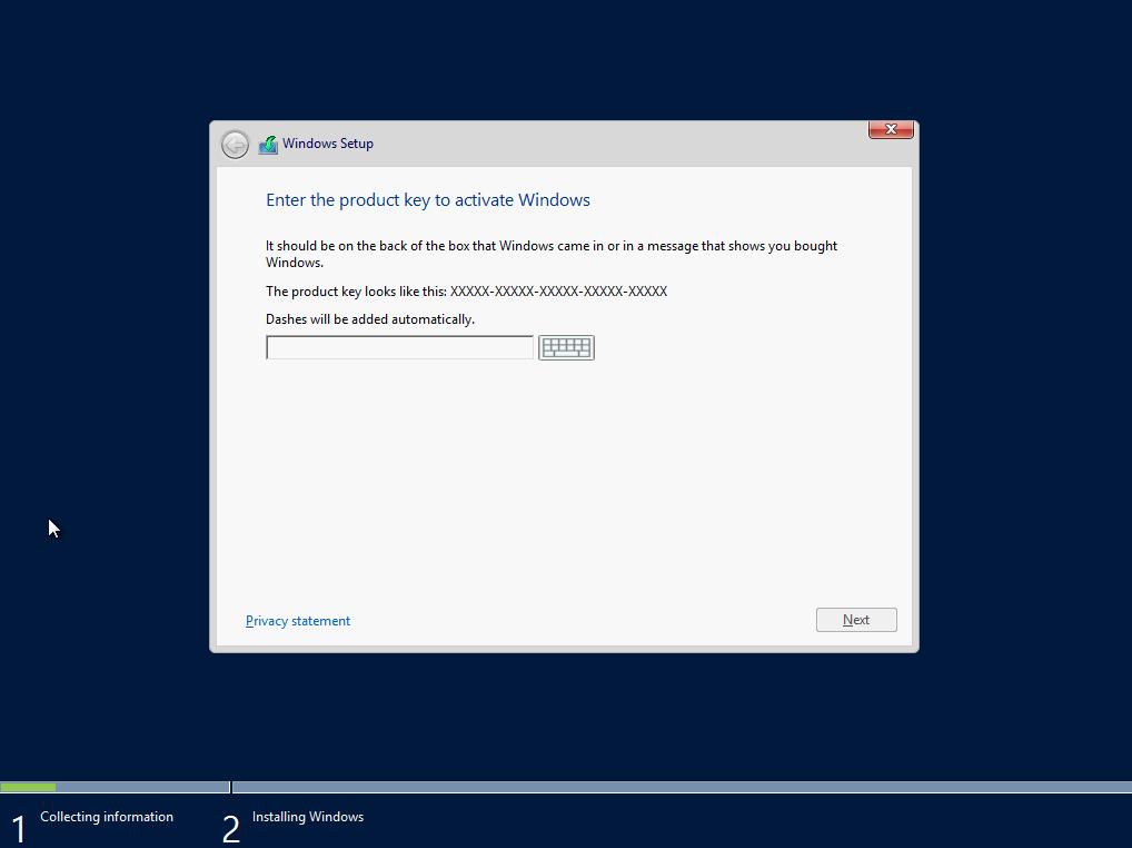 activation key windows server 2012 r2 standard
