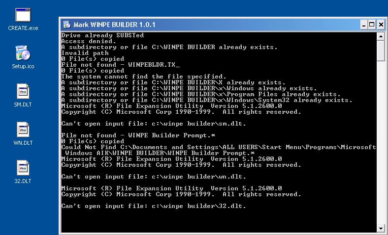 WINPE Builder 1 0 - Windows PE - MSFN