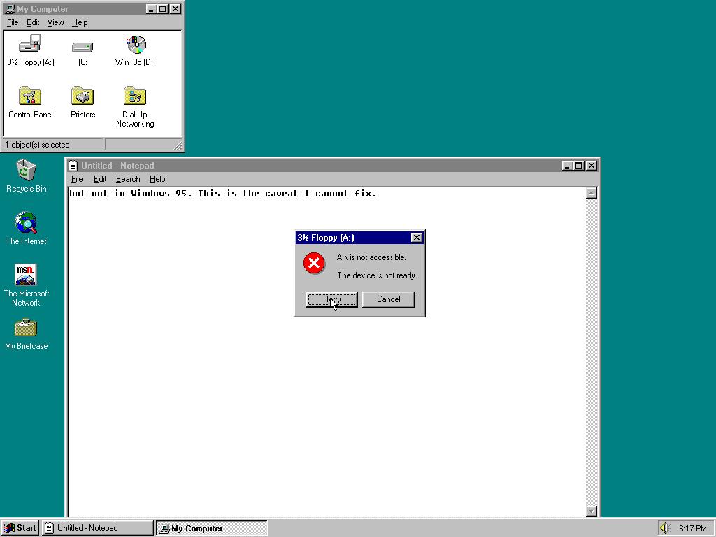 Windows 95 2 1GHz CPU Limit BROKEN! - Page 10 - Windows 9x Member