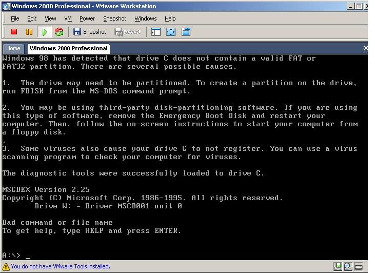 BAD COMMAND OR FILE NAME? - Multi-Boot CD/DVDs - MSFN