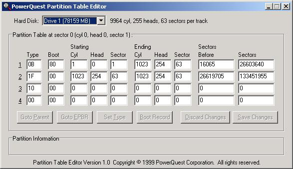 Rebuild corrupted partition table - Hard Drive and Removable Media